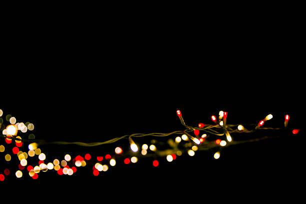 holiday light deco stock photo