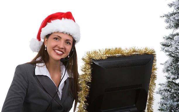 holiday-büro - weihnachtsprogramm stock-fotos und bilder