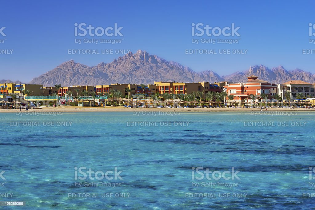 Holiday on the Red Sea stock photo