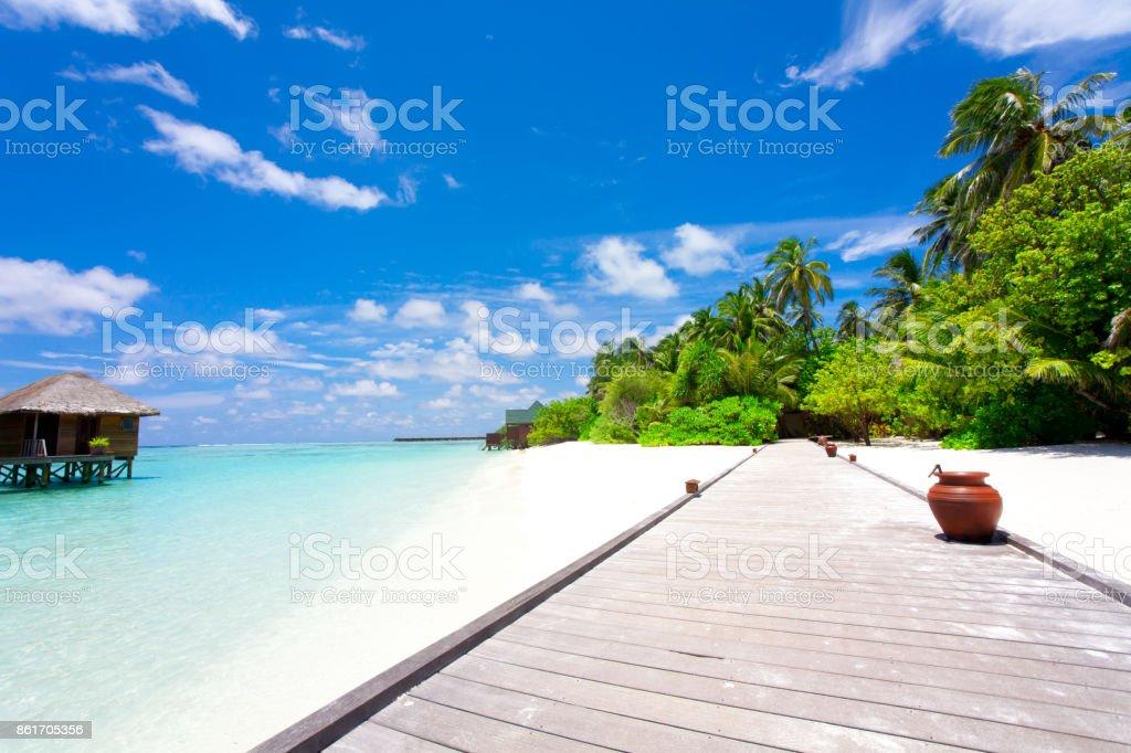 Vacaciones en el paraíso - foto de stock