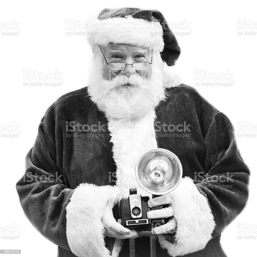Holiday Photo Santa with Camera royalty-free stock photo