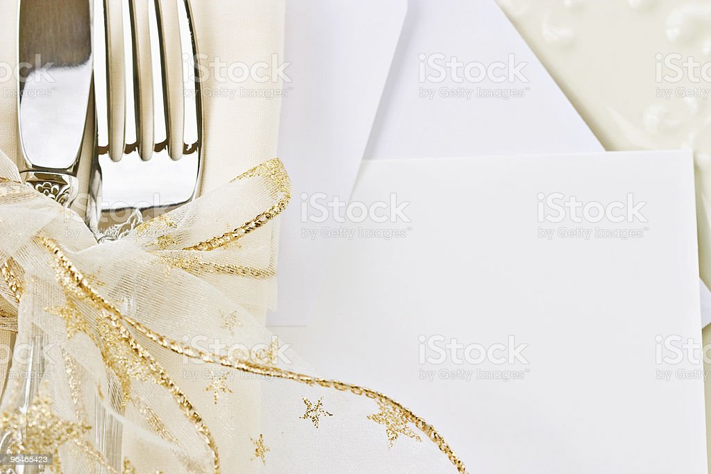 Holiday place setting. royalty-free stock photo