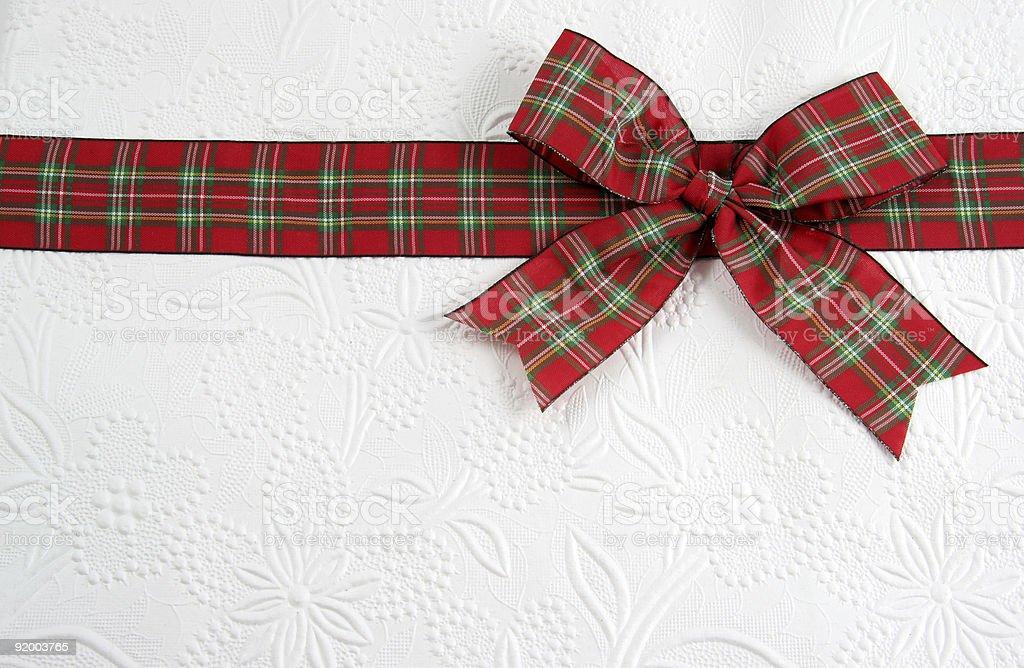Holiday Plaid Bow stock photo