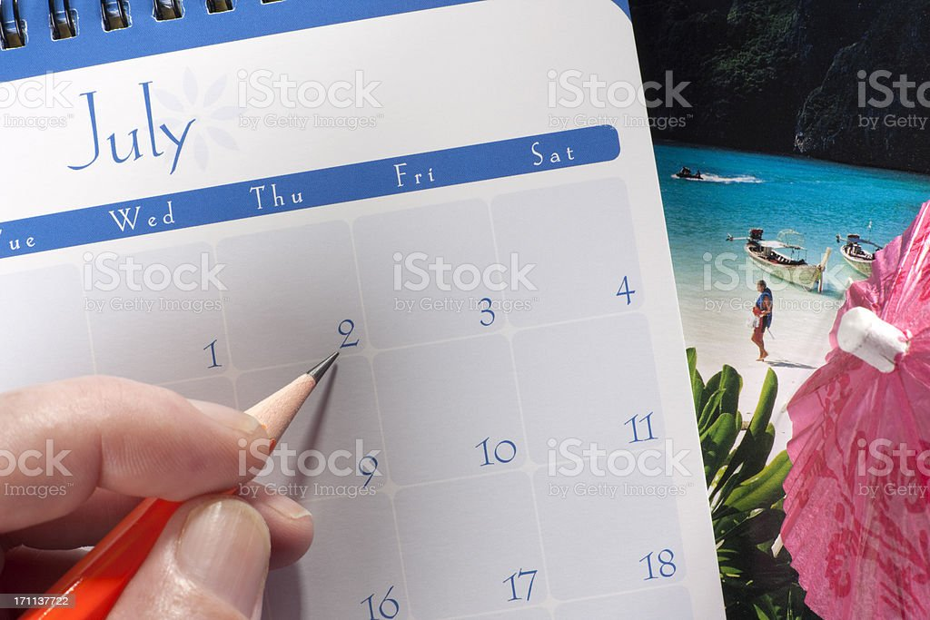 Holiday planning. royalty-free stock photo
