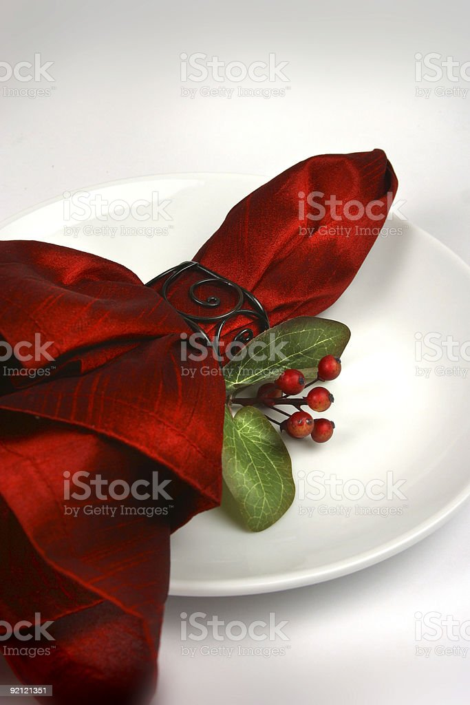 Holiday Plate white royalty-free stock photo