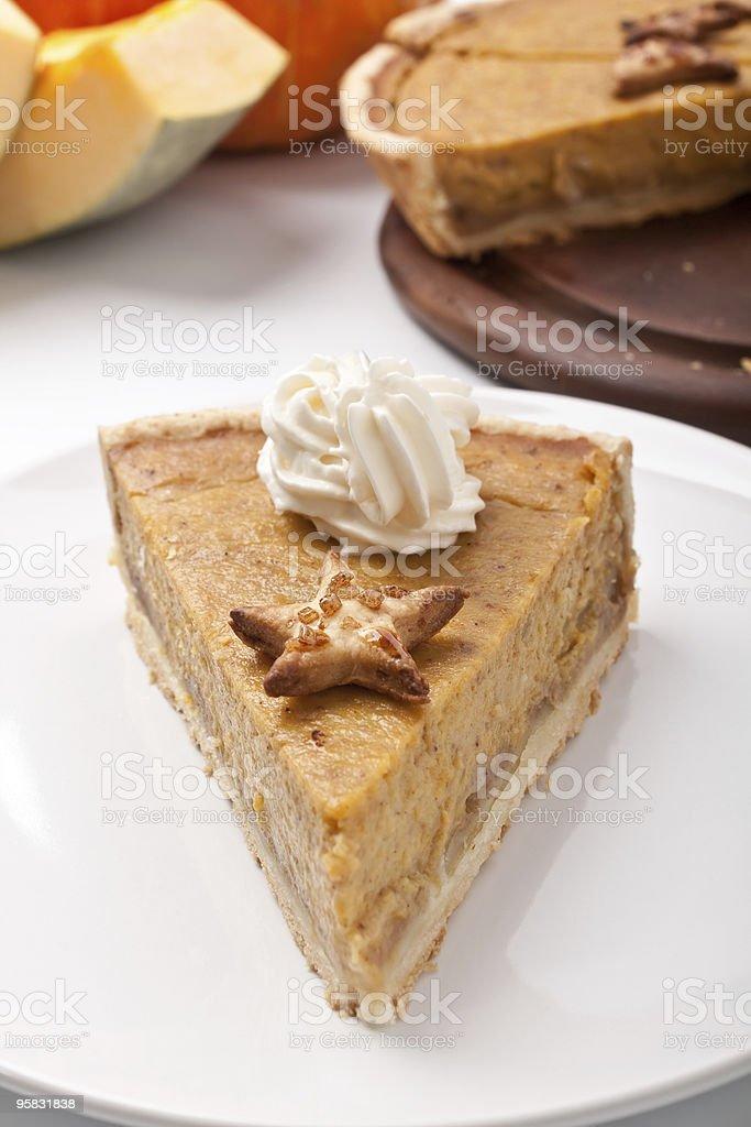 holiday pumpkin pie royalty-free stock photo