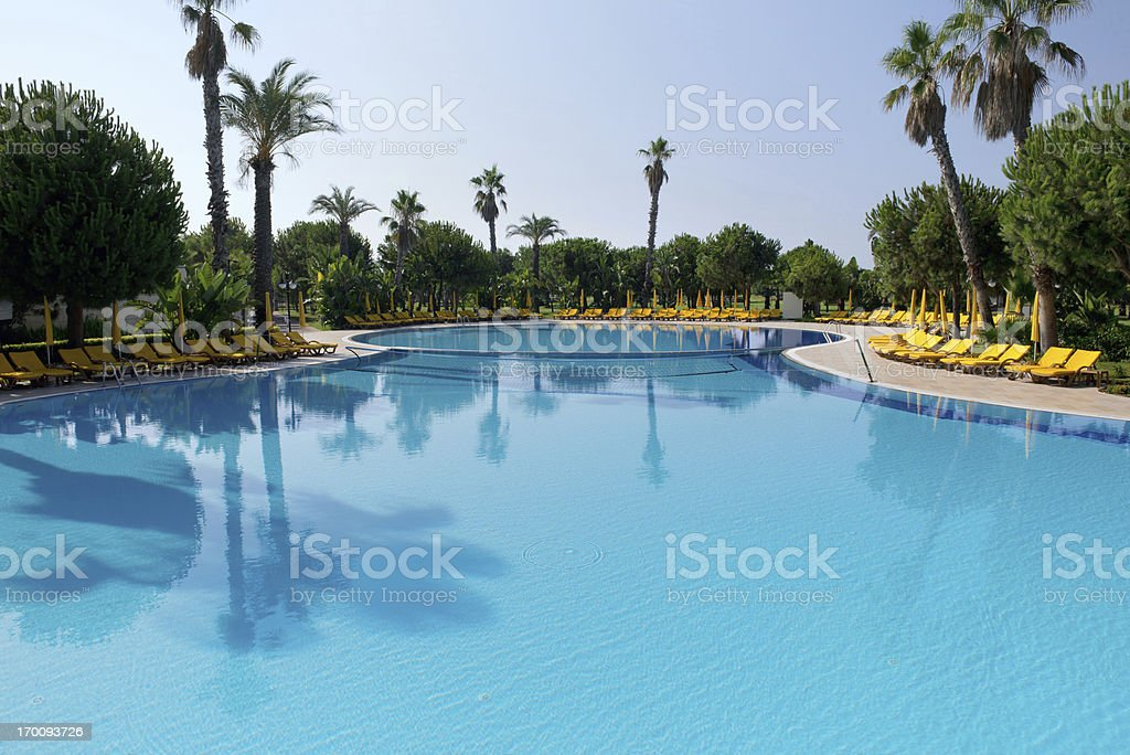 holiday resort stock photo
