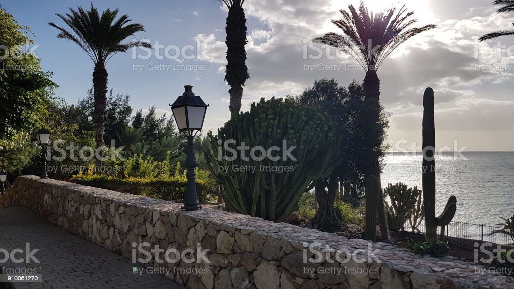 A holiday resort stock photo