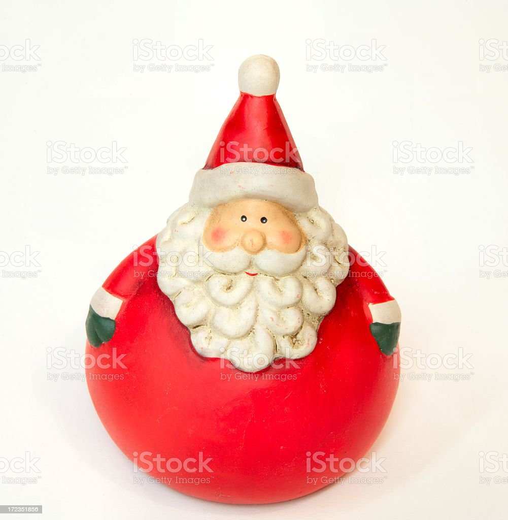 Holiday: Roly Poly Santa for Christmas royalty-free stock photo