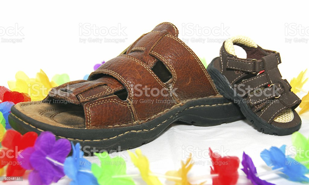 Holiday Sandals royalty-free stock photo