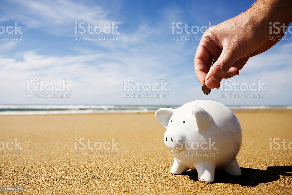 Holiday savings stock photo