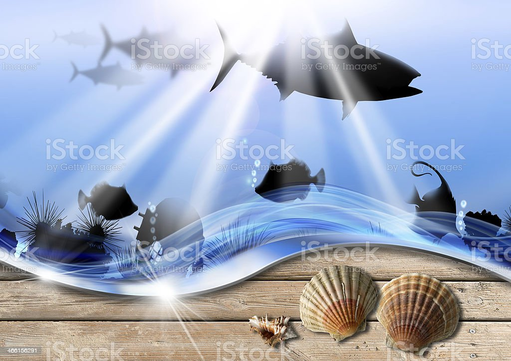 Holiday Sea Abyss Background royalty-free stock photo