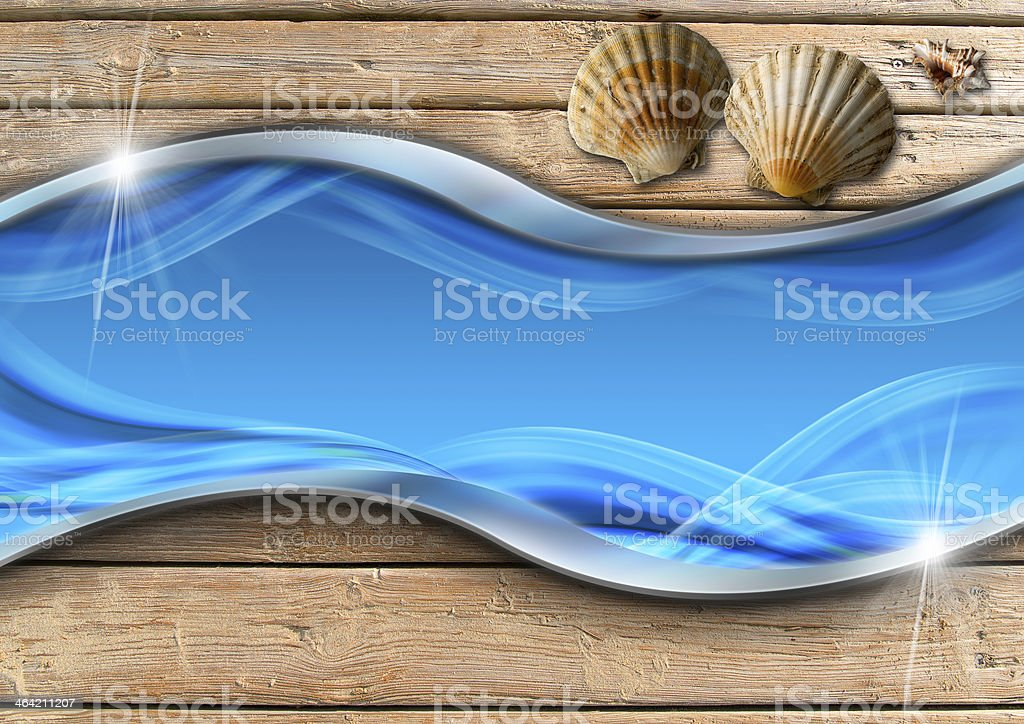 Holiday Sea Background royalty-free stock photo