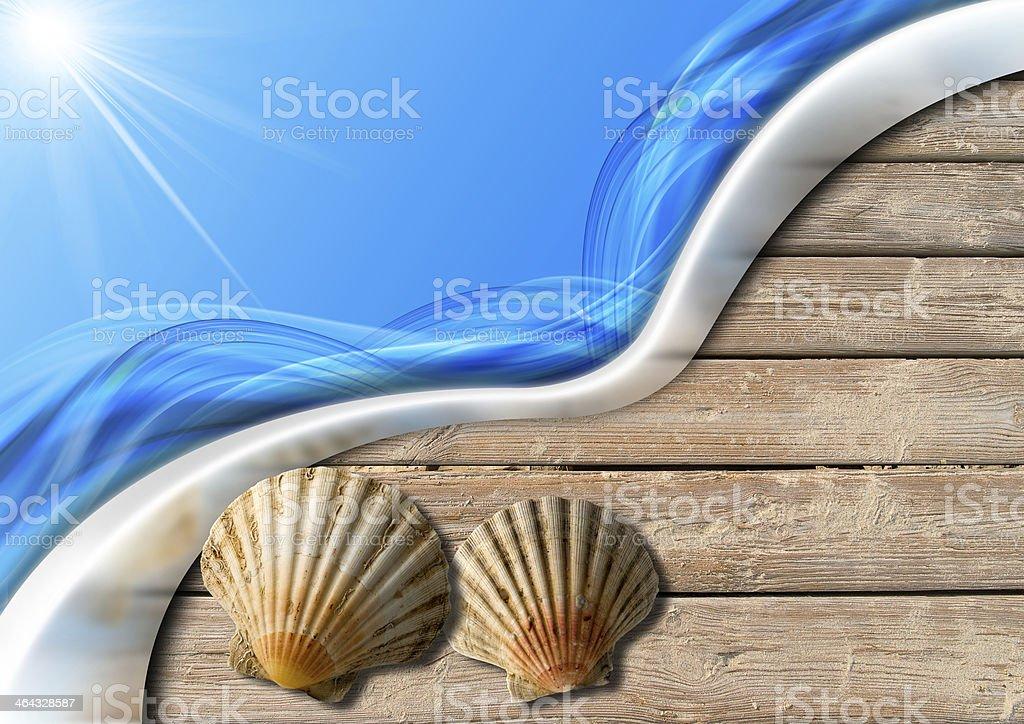 Holiday Sea Background stock photo