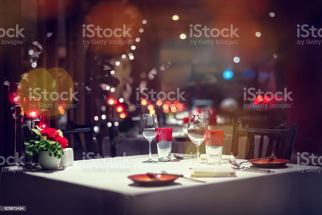 Holiday Setting stock photo