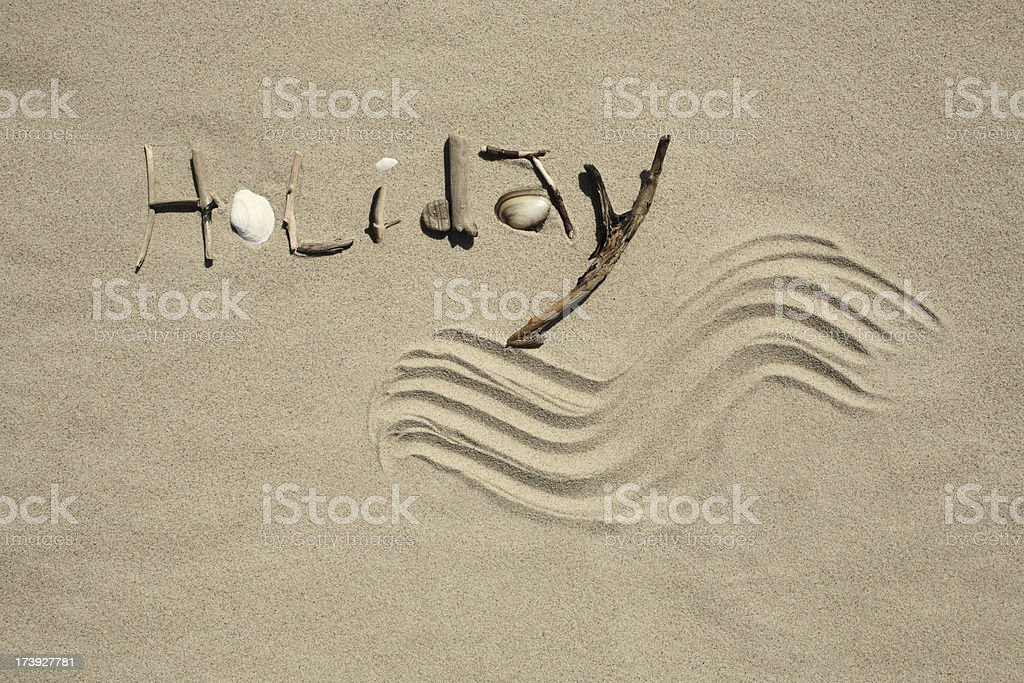 Holiday sign. royalty-free stock photo