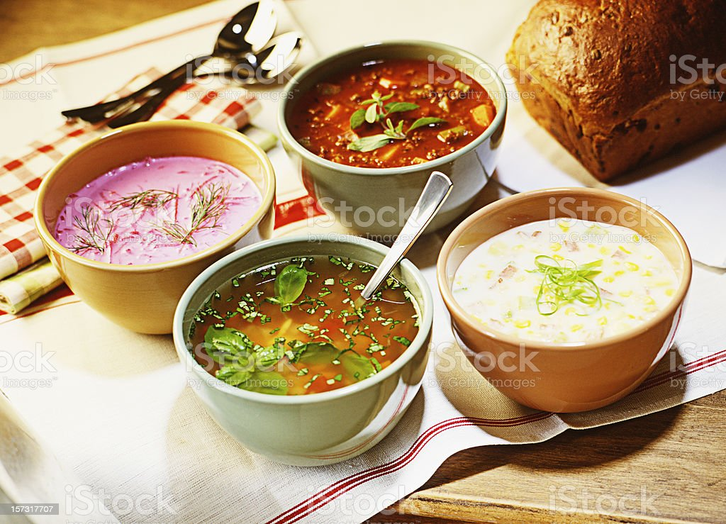 Holiday Soups stock photo
