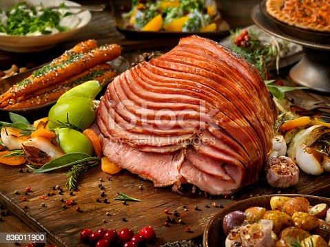 Maple Glazed Spiral Ham Turkey Dinner