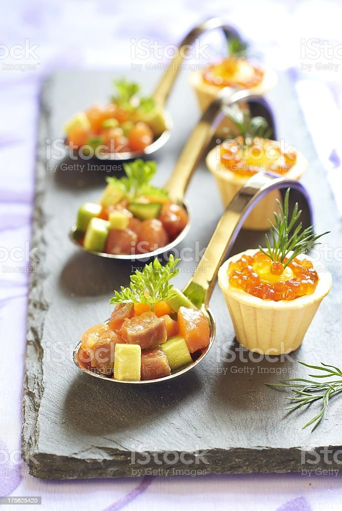Holiday starter platter with appetizers royalty-free stock photo