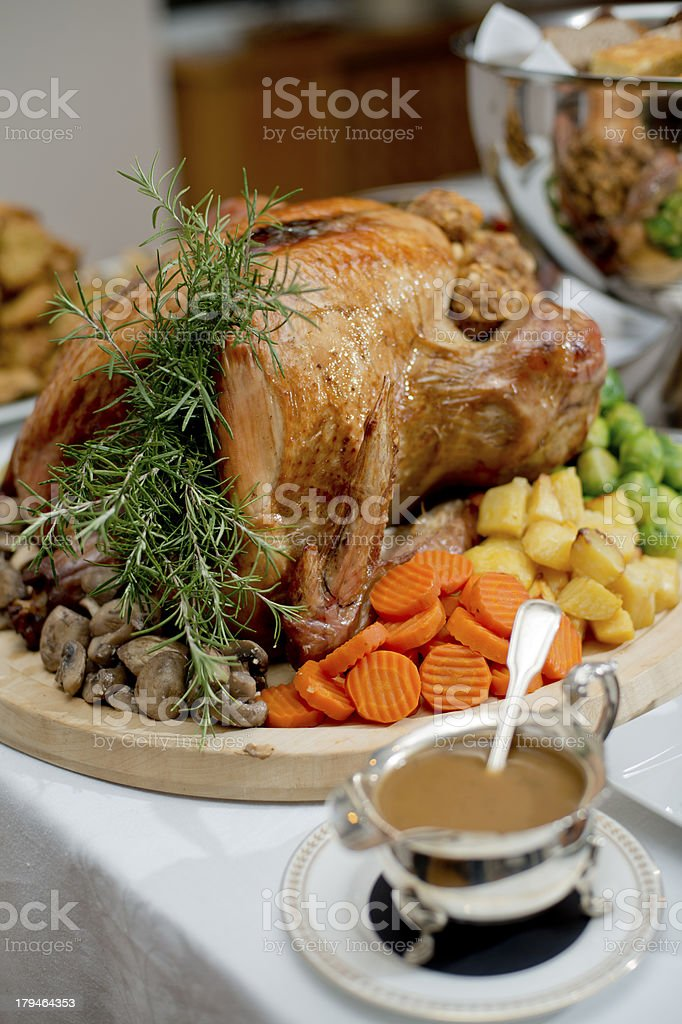 Holiday stuffed turkey royalty-free stock photo