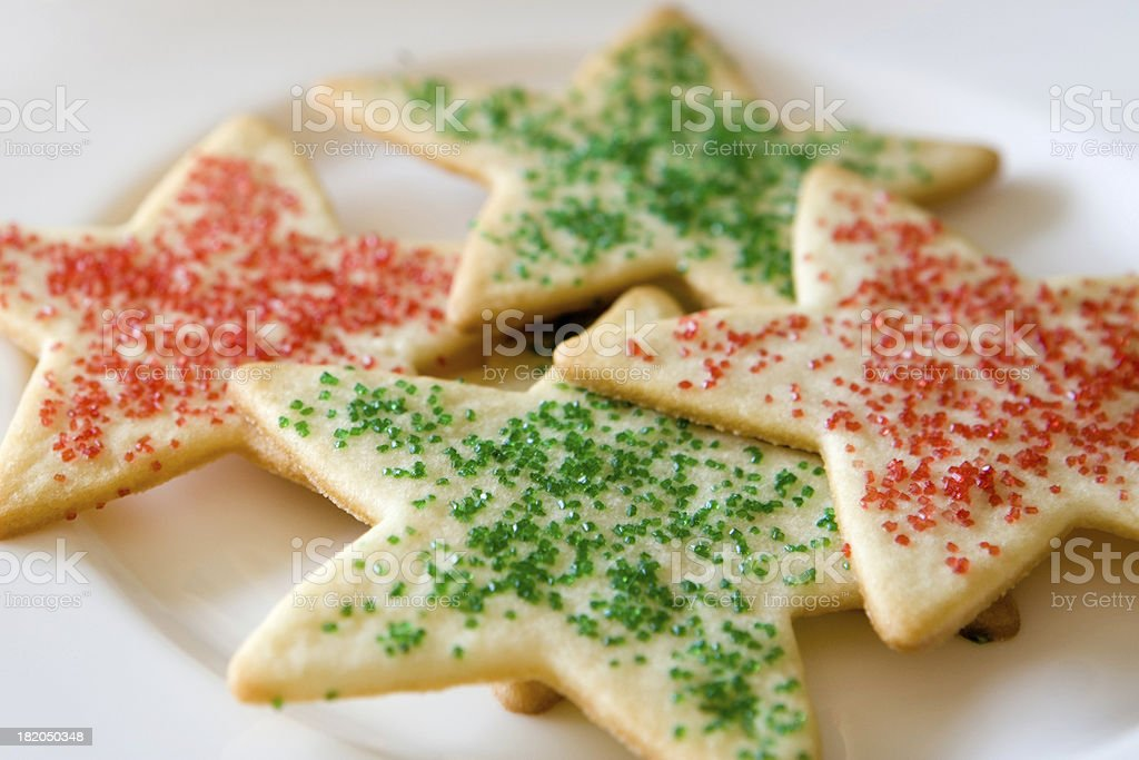 Holiday Sugar Cookies royalty-free stock photo