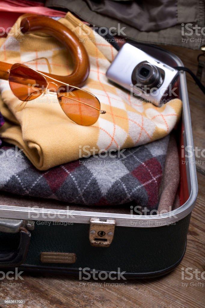 Holiday Suitcase And Accessories Travel Concept - zdjęcia stockowe i więcej obrazów Bagaż