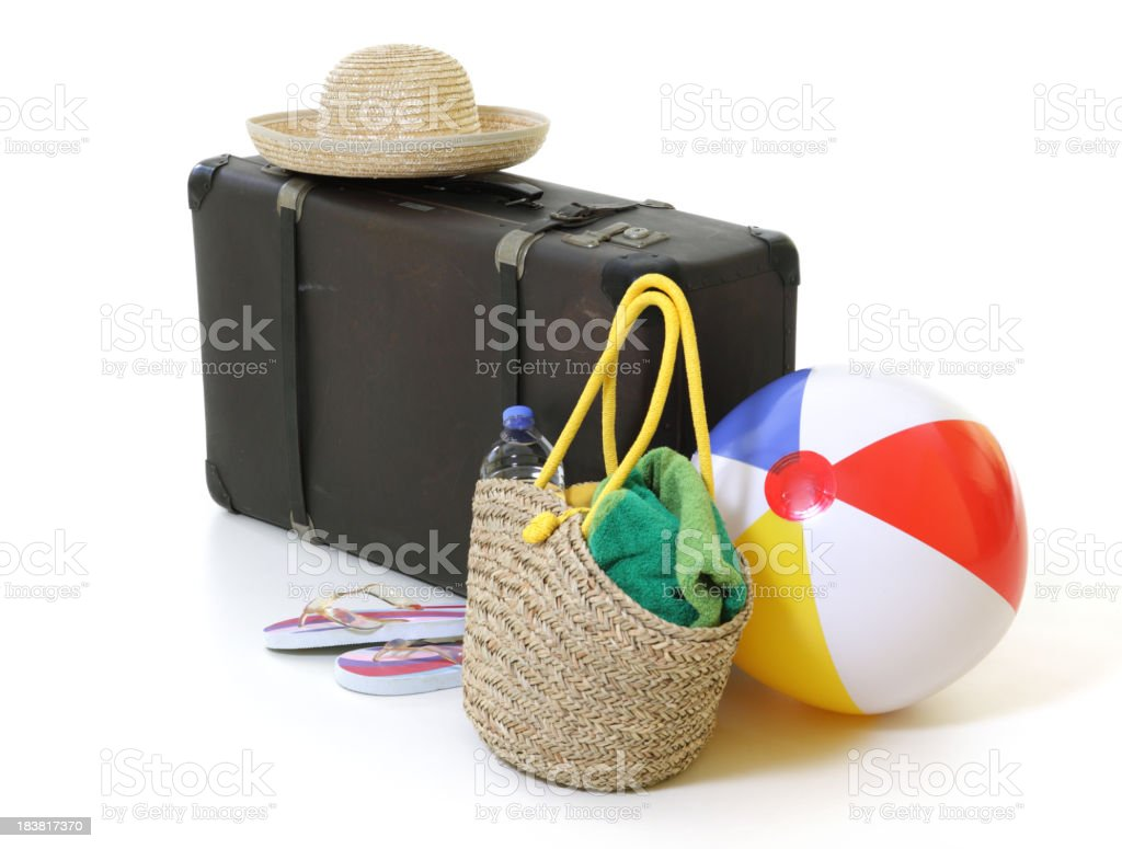 Holiday Suitcase - Beach royalty-free stock photo