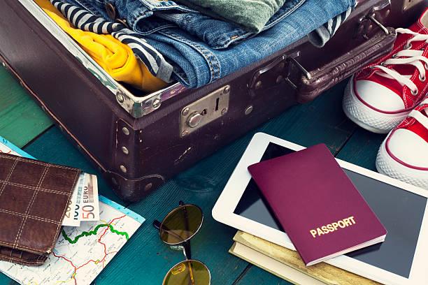 ホリデーのスーツケース ストックフォト