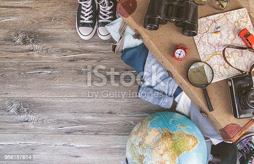 istock Holiday suitcase 956157614