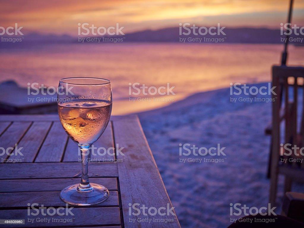 Holiday sunset stock photo