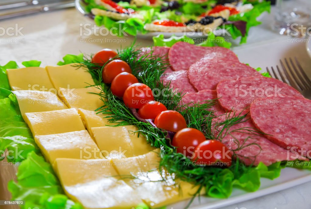 Holiday table, food stock photo