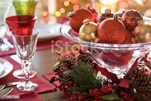 A table decorated for the holidays.PLEASE CLICK ON THE IMAGE BELOW TO SEE OTHER CHRISTMAS & HOLIDAY IMAGES IN MY PORTFOLIO: