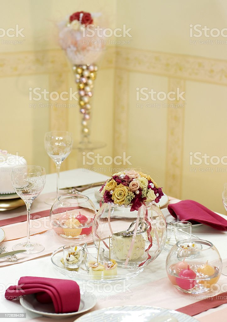 Holiday table setting royalty-free stock photo