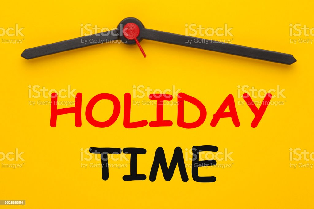 Holiday Time Concept stock photo