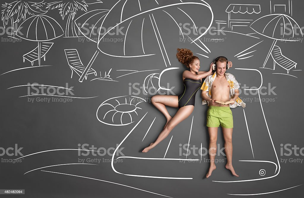 Holiday together. stock photo