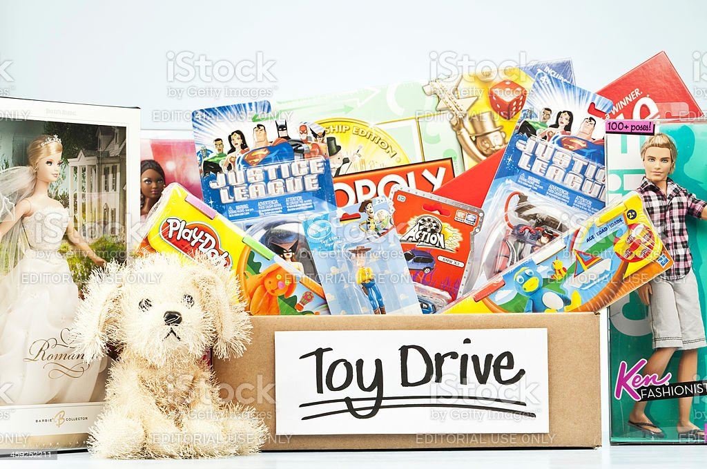 Holiday Toy Drive stock photo