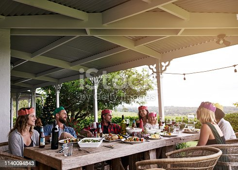 Cropped shot of a family spending Christmas day together