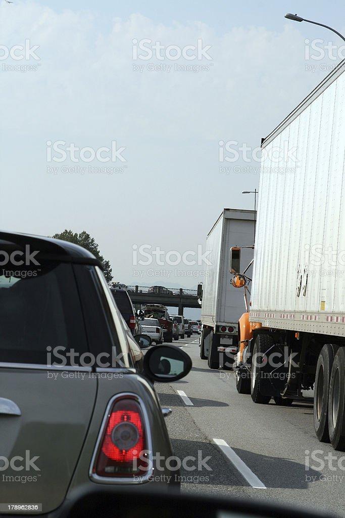 Holiday traffic royalty-free stock photo