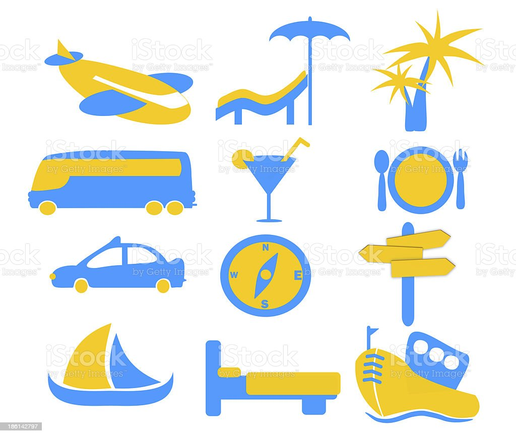 Holiday Travel Icon Graphics stock photo