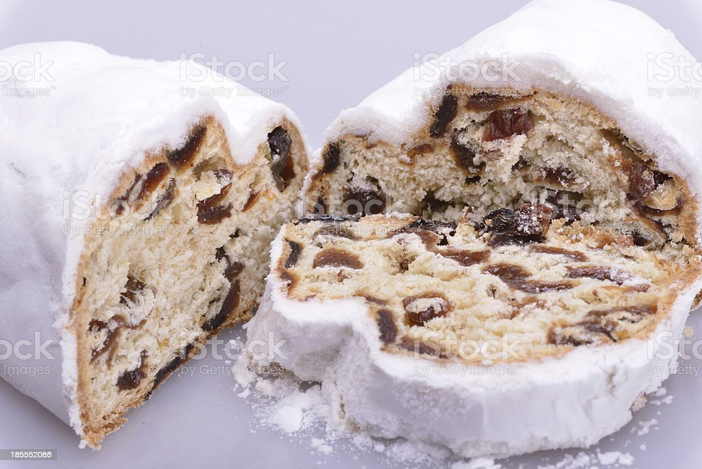 Holiday Stollen stock photo