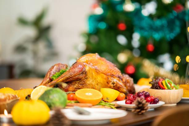 Urlaub Türkei Abendessen Über Blick auf den Ort Einstellung am Thanksgiving-Tag – Foto
