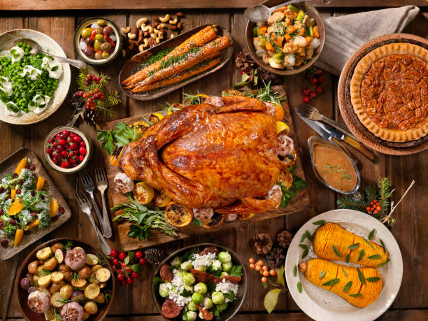 Holiday Turkey Dinner - foto stock