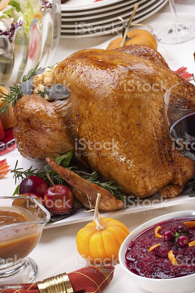 Holiday turkey stock photo