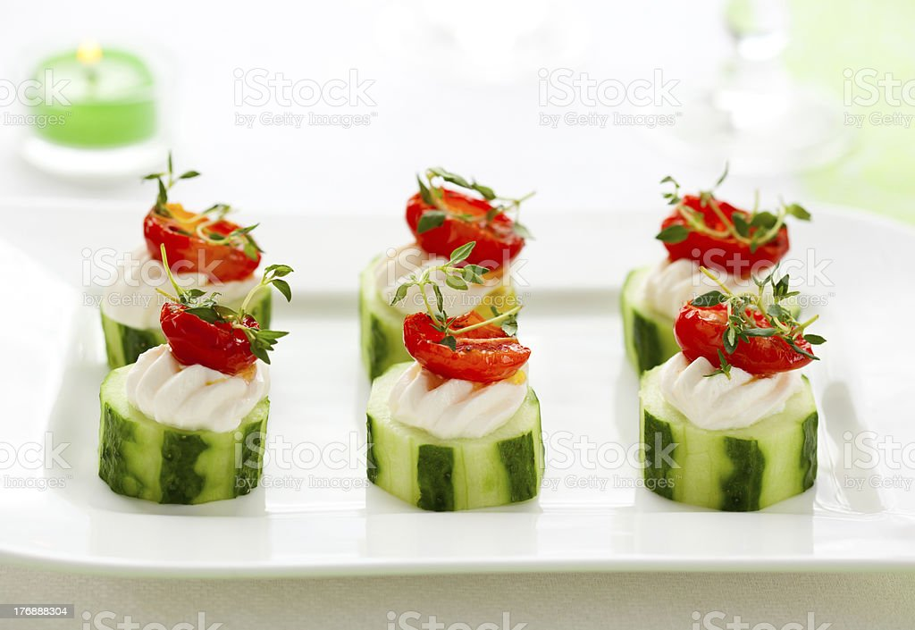 Holiday vegetable appetizer royalty-free stock photo