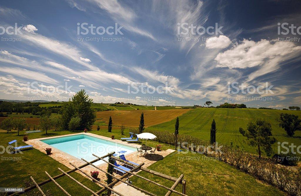 Holiday Villa Views royalty-free stock photo