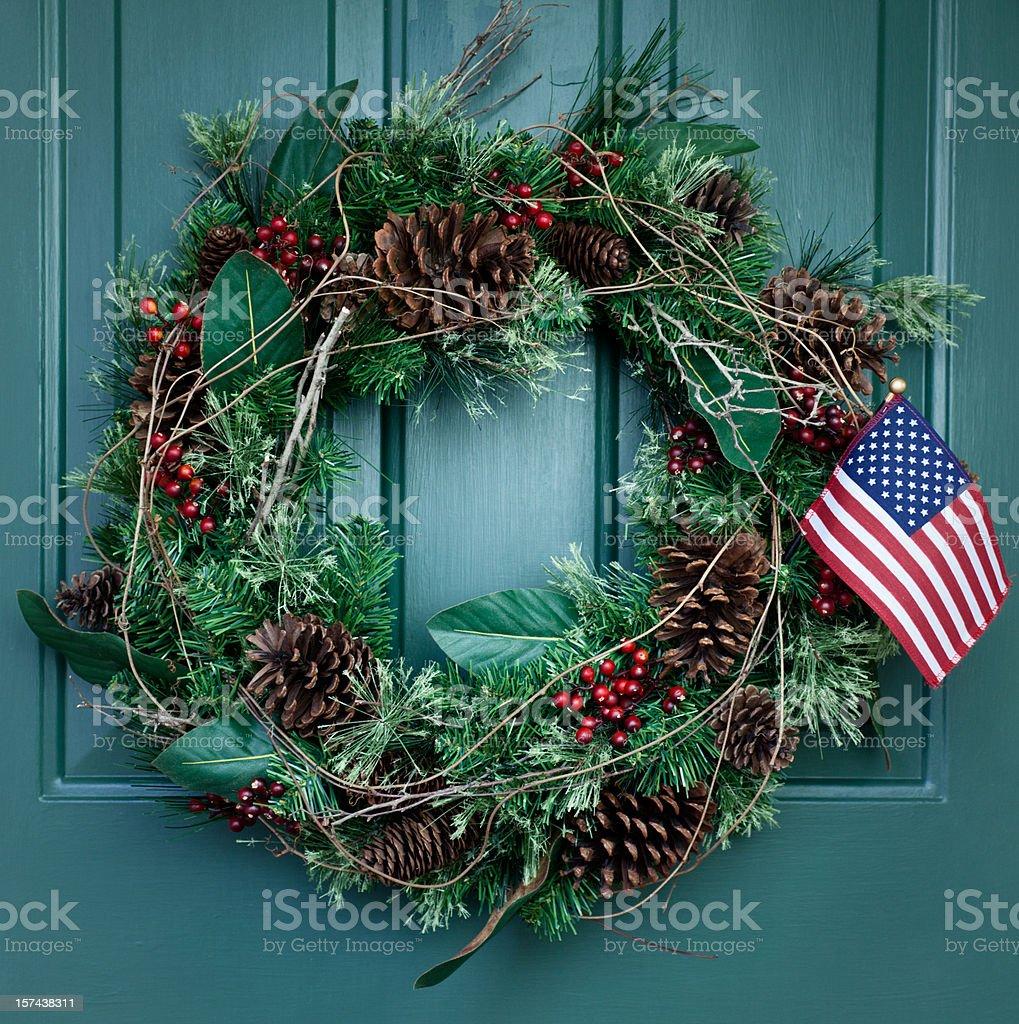 Holiday Wreath royalty-free stock photo