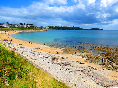 Holidaymakers enjoy Gyllyngvase Beach in Falmouth