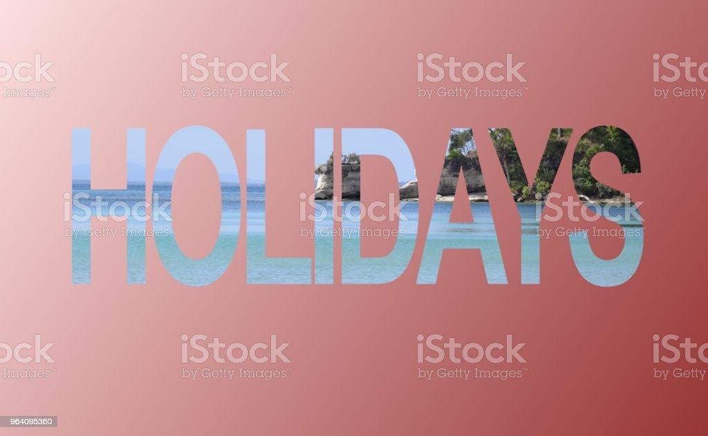 Holidays advertisement sign - Royalty-free Advertisement Stock Photo