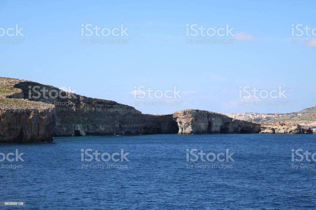 Holidays at Comino and Gozo island of Malta at Mediterranean Sea - Royalty-free Archipelago Stock Photo