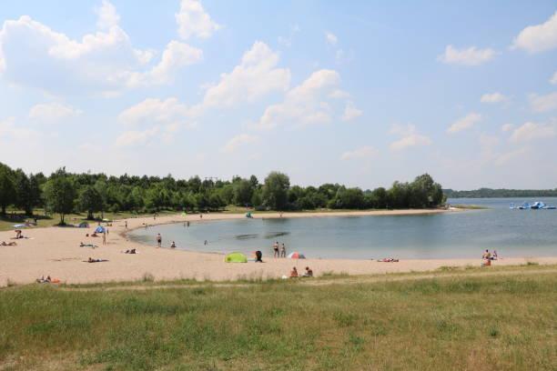 Urlaub am See Schladitzer See in der Nähe von Leipzig, Deutschland – Foto
